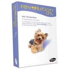 Revolution 12% para Cães (2,6 a 5 kg) - 1 tubo