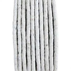 Palitos extrusados brancos 8mm - Embalagem com 10